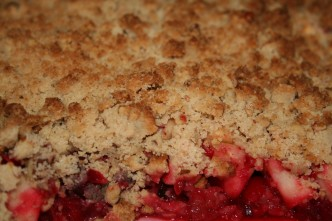 Apfel-Cranberry Crumble