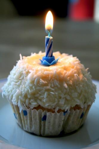 Cupcakes mit Kokos-Vanille Topping