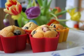 Himbeer-Blaubeer-Muffins